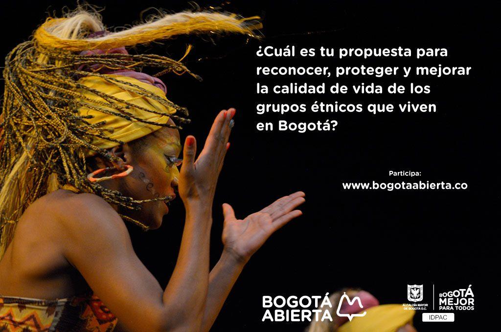 ¿Cómo reconocer, proteger y mejorar la calidad de vida de los grupos étnicos que viven en Bogotá?