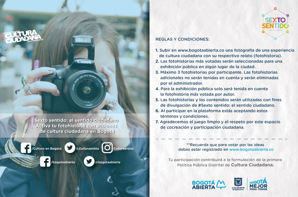 Foto Historias de la Cultura Ciudadana en Bogotá: Activa tu Sexto Sentido