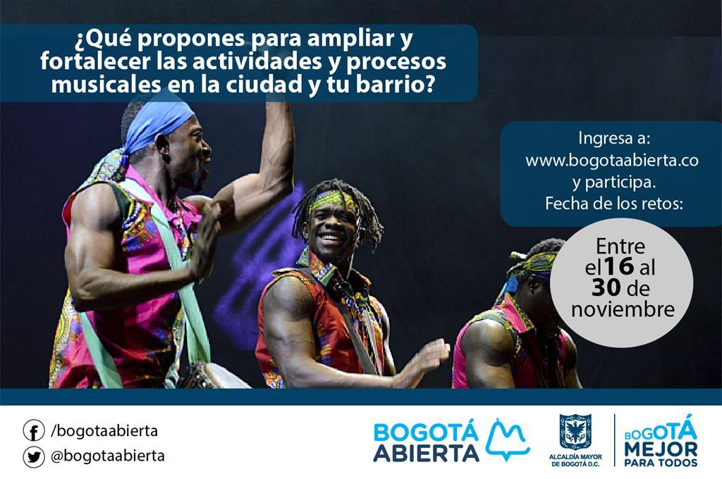 ¿Qué propones para ampliar y fortalecer las actividades y procesos musicales en la ciudad y tu barrio?