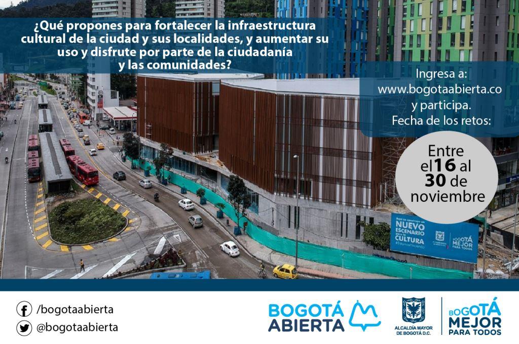 ¿Qué propones para fortalecer la infraestructura cultural de la ciudad y sus localidades?