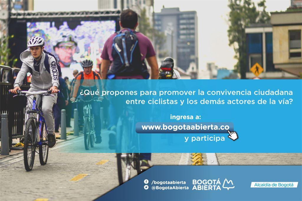 ¿Qué propones para promover la convivencia ciudadana entre ciclistas y los demás actores de la vía?