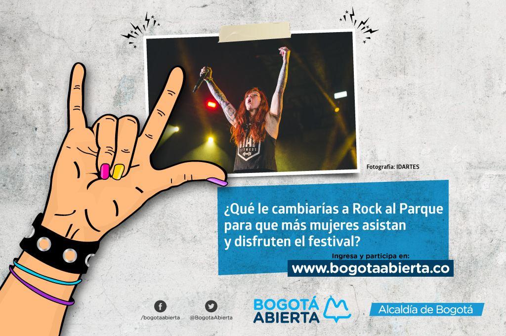¿Qué le cambiarías a Rock al Parque para que más mujeres asistan y disfruten el festival?