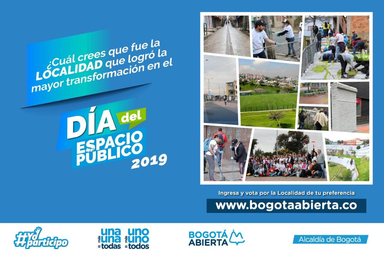 ¿Cuál cree usted que fue la localidad que logró mayor transformación en el día del Espacio Público 2019?