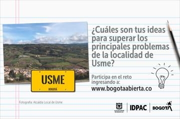 ¿Cuáles son tus ideas para superar los principales problemas de la localidad de Usme?