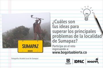 ¿Cuáles son tus ideas para superar los principales problemas de la localidad de Sumapaz?
