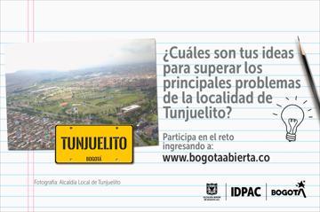 ¿Cuáles son tus ideas para superar los principales problemas de la localidad de Tunjuelito?