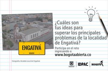 ¿Cuáles son tus ideas para superar los principales problemas de la localidad de Engativá?