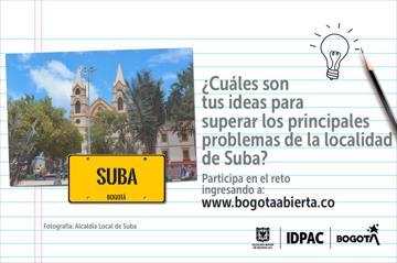 ¿Cuáles son tus ideas para superar los principales problemas de la localidad de Suba?