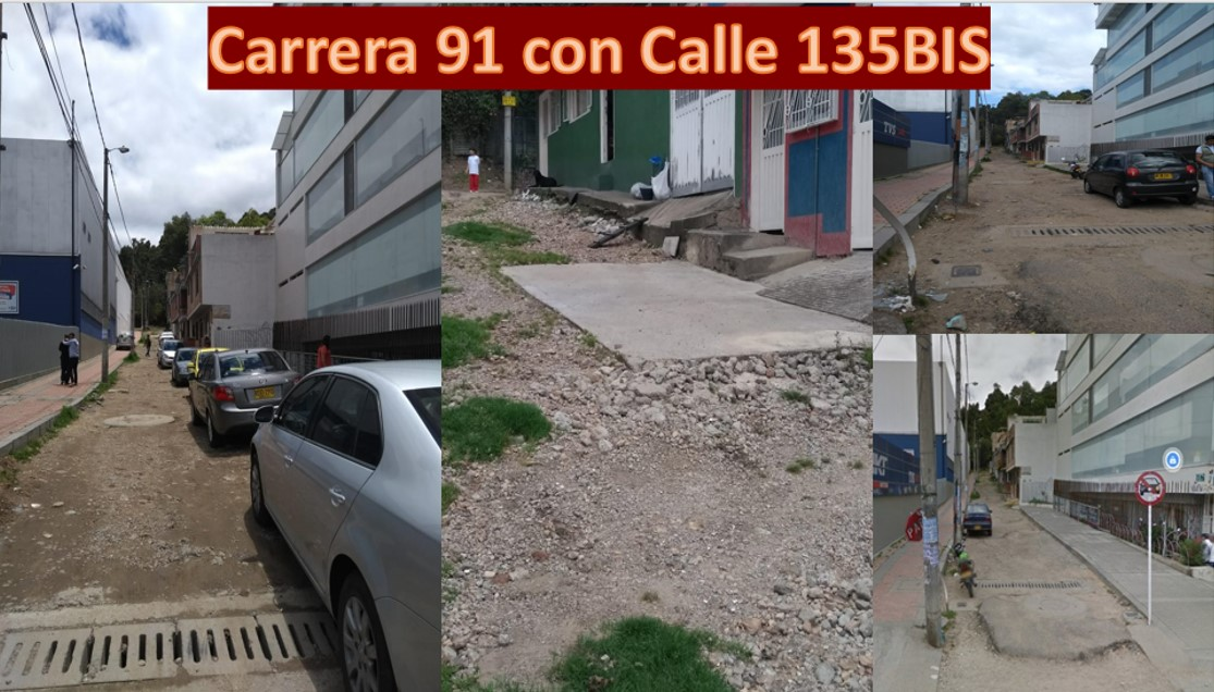 Reconstrucción de vía en la Carrera 91 con Calle 135Bis