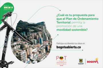 ¿Cuál es tu propuesta para que el POT permita la promoción de una movilidad sostenible?