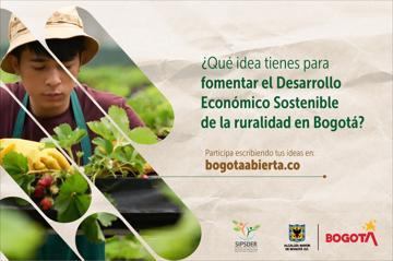 ¿Qué idea tienes para fomentar el Desarrollo Económico Sostenible de la ruralidad en Bogotá?