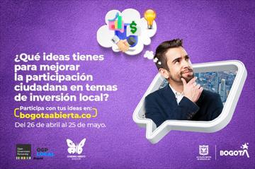 ¿Qué ideas tienes para mejorar la participación ciudadana en temas de inversión local?