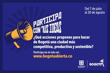 ¿Qué acciones propones para hacer de Bogotá una ciudad más competitiva, productiva y sostenible?